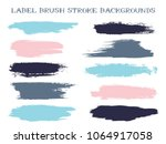 messy label brush stroke... | Shutterstock .eps vector #1064917058