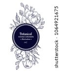 vintage flower vector frame... | Shutterstock .eps vector #1064921675