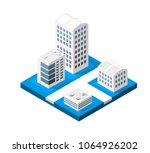colorful 3d isometric city of... | Shutterstock .eps vector #1064926202