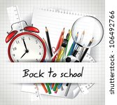 back to school background | Shutterstock .eps vector #106492766