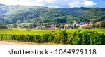 traditional villages of alsace... | Shutterstock . vector #1064929118
