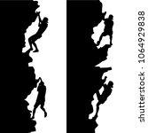 black set silhouette rock... | Shutterstock .eps vector #1064929838
