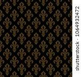 royal heraldic lilies  fleur de ... | Shutterstock .eps vector #1064932472