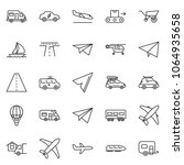 thin line icon set   home...   Shutterstock .eps vector #1064935658