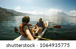 outdoor nature selfie of young... | Shutterstock . vector #1064935775