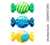 a set of sweet candies in a... | Shutterstock .eps vector #1064937392