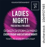 night party banner template for ... | Shutterstock .eps vector #1064937485
