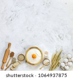 ingredients for making dough... | Shutterstock . vector #1064937875