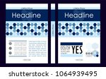 blue a4 business book cover...   Shutterstock .eps vector #1064939495