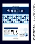 blue a4 business book cover...   Shutterstock .eps vector #1064939498