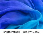 chiffon silk scarf background... | Shutterstock . vector #1064942552