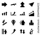 solid vector icon set   right... | Shutterstock .eps vector #1064946422