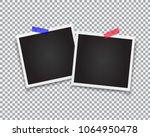 retro photo frames. realistic... | Shutterstock .eps vector #1064950478