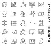 thin line icon set   cash... | Shutterstock .eps vector #1064950805