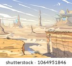 fantastic city desert. concept...   Shutterstock .eps vector #1064951846