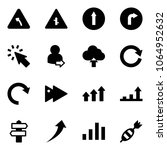 solid vector icon set   turn... | Shutterstock .eps vector #1064952632