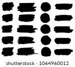 vector black paint brush spots  ...   Shutterstock .eps vector #1064960012