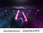 charismatic disc jockey at the... | Shutterstock . vector #1064961995