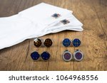 cufflinks with shirt on the... | Shutterstock . vector #1064968556
