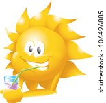 sun with drink | Shutterstock . vector #106496885