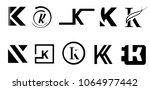 capital letter k. modern set... | Shutterstock .eps vector #1064977442