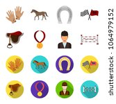 saddle  medal  champion  winner ... | Shutterstock .eps vector #1064979152