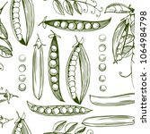 hand drawn seamless pattern...   Shutterstock .eps vector #1064984798