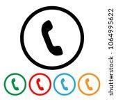 telephone icons set | Shutterstock .eps vector #1064995622