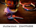 mug of frothy beer with... | Shutterstock . vector #1064996888