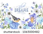 vector botanical banner with... | Shutterstock .eps vector #1065000482