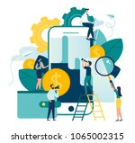 vector business illustration on ... | Shutterstock .eps vector #1065002315