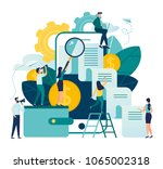vector business illustration on ... | Shutterstock .eps vector #1065002318