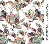 floral panttern in vector | Shutterstock .eps vector #1065013922