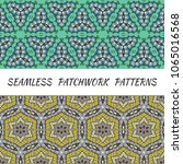 set of seamless triangle... | Shutterstock .eps vector #1065016568