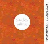 orange repeating seamless... | Shutterstock .eps vector #1065016625