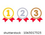 1st  2nd  3rd places. gold ... | Shutterstock .eps vector #1065017525