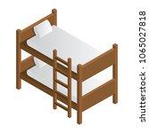 bunk bed isometric icon. vector. | Shutterstock .eps vector #1065027818