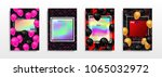 abstract multicolored covers.... | Shutterstock .eps vector #1065032972