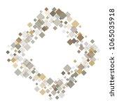 rhombus white minimal geometric ... | Shutterstock .eps vector #1065035918