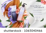 essential cream ads  shampoo... | Shutterstock .eps vector #1065040466