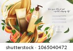 essential cream ads  shampoo... | Shutterstock .eps vector #1065040472