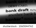 bank draft word in a dictionary.... | Shutterstock . vector #1065044762