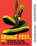 grunge festival flyer poster... | Shutterstock .eps vector #1065045032