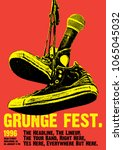 Grunge Festival Flyer Poster Template  | Shutterstock vector #1065045032