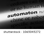 automaton word in a dictionary. ... | Shutterstock . vector #1065045272