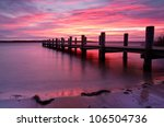 landing stage at morning light  ... | Shutterstock . vector #106504736