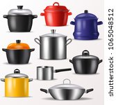 pan vector kitchenware or... | Shutterstock .eps vector #1065048512