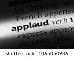 applaud word in a dictionary.... | Shutterstock . vector #1065050936