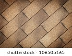 Old Tiles Roof Texture Close Up