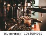 a small glass cup of espresso... | Shutterstock . vector #1065054092